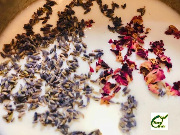 洗濯女の香り「ラベンダー」で作る入浴剤バスミルクの作り方